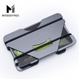 Black Blocks Canada - Multiple Function Aluminum Metal Wallet Rfid Blocking Mini Slim Wallet Credit Card ID Holder With RFID Anti-chief Money Clip