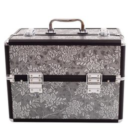 $enCountryForm.capitalKeyWord Canada - Aluminum alloy Multilayer layer Professional Suitcase Cosmetic Case Bags,Jewelry Makeup Storage Box Wedding Birthday Gift Travel Luggage Bag