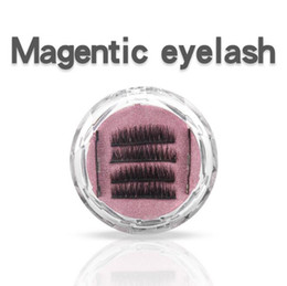 Discount false hair accessories - Magnet 3D Magnetic False Eyelashes Natural Hand-made 3 Magnetic False Eyelashes Eye Lashes Beauty Makeup Accessories CCA