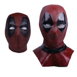 Deadpool 2 Marvel Deadpool Máscaras Disfraces de Halloween Cosplay Disfraz  Superhero Máscara de látex Juguetes coleccionables Máscara facial completa 18c6a4d7be97