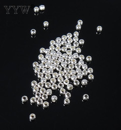 Wholesale Verkäuferinfo Bag Fashion Round Ball Spacer Genuine 925 Sterling Silber Perlen 2/4/5/6/7/8/9 / 10mm wählen DIY Charms Jewelry