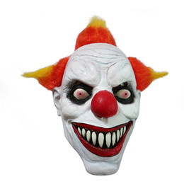 $enCountryForm.capitalKeyWord UK - Funny Evil Adult Latex Hair Pennywise Killer Joker Clown Costume Mask Ghost Carnival Party Cosplay Mask Decorations Accessories