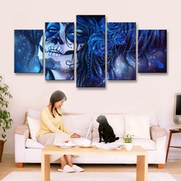Art Canvas Prints Australia - 5 pieces high-definition print Dead Face canvas painting poster and wall art living room picture RW-070