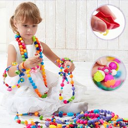 Puzzle blocks for kids online shopping - 350pcs DIY Blocks Bricks Toys Candy Sugar Jewelry Puzzle Toys Handmade Plastic Educational Pop Beaded Assembled Blocks for Kids Girl