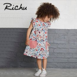 Patterns For Tutus Canada - Richu little girls clothes dress for girls sleeveless summer children dresses christmas costumes for kids pattern o neck dress mixed size