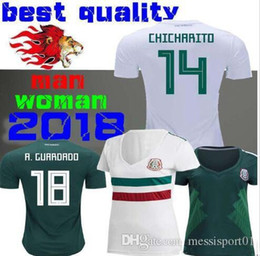 052990cdecd 2018 World Cup Woman Mexico soccer Jersey Mexico Home away 8 H.LOZANO 10 G.DOSSANTOS  14 CHICHARITO girl Slim Short sleeved football shirt