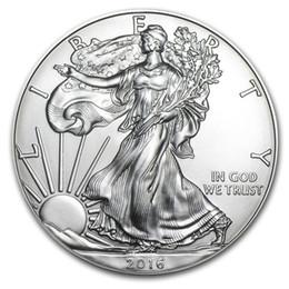 Образец заказа, бесплатная доставка 2016 1 унция серебро Американский орел монеты + 2016 Статуя Свободы щепка монеты