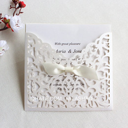 $enCountryForm.capitalKeyWord NZ - Lace elegant wedding invitation card with transparent envelop laser cut holiday greeting card gift card party supplies