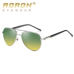 8a51c18b5e AORON Day Night Vision Polarized Men Pilot Sunglasses Women Brand Original  Leisure Glasses Design Fishing Goggles Oculos De Sol