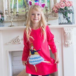 abb3e97e7987 Girls Dress Long Sleeve Baby Girl Clothes Christmas Dress Unicorn Party  Autumn Brand Princess Dress Kids Costume