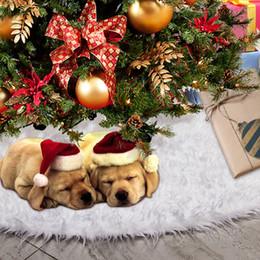 $enCountryForm.capitalKeyWord Australia - 80 90 120 122cm Pure White Plush Christmas Tree Skirt Shaggy Faux Fur Carpet Xmas Christmas Tree Skirts Home Party Decor Gifts