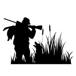 online shopping man and dog hunting company natural style car sticker CA