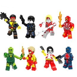 Super Blocks Canada - 8Pcs 4.5CM Super Hero Building Blocks People Aberdeen Christmas Doll Children's Educational Toys Birthday Present