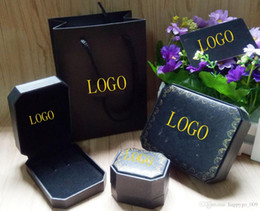 Wholesale Black Bracelet Ring Box Brand Fashion Necklace Pendant Box B Red String Bracelet weding Jewelry Box