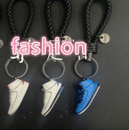 $enCountryForm.capitalKeyWord Australia - 3D Soft Rubber Shoes Keychain DIY 3D Mold Fidget Shoes Keyrings PVC Basketball Sneaker Shoes Keychains Wholesales