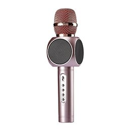 $enCountryForm.capitalKeyWord UK - Mental Condenser Wirelss Bluetooth Recording Karaoke Microphone MIC with 360° Stereo Double Speaker Echo Effect 2600mah 10h of Working Time