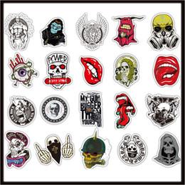 Nuevo Skull Car sticker Diy stickers 50X pósters pegatinas de pared para habitaciones de niños decoración para el hogar en laptop patineta equipaje calcomanías de pared M en venta