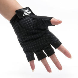 Gloves bicycle black online shopping - Non Slip Ventilation Bicycle Gloves Mesh Cloth Protect d Half Finger Moisture Absorption Creative Reusable Bike Cycling Glove ro jj