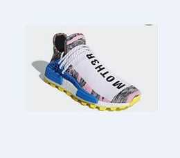 cd6ba35e9 New Release Pharrell Williams x Originals NMD Hu Trial Solar Pack Human  Race Men Women Running Shoes Authentic Sneakers With Original Box