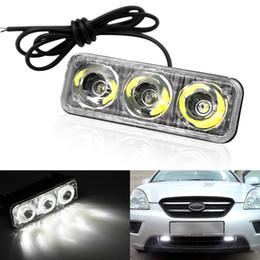 f81e4694ad Luces corrientes diurnas del aluminio LED del poder más elevado del coche  con las lámparas de la niebla de Super White 6000K DRL de DC12V de la lente  ...