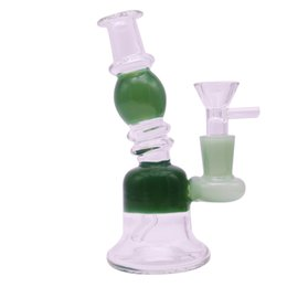 $enCountryForm.capitalKeyWord NZ - Newest 5.7 inch mini glass bubbler pipe with 14mm green joint glass bong hookah pipes water pipe dab oil rigs free shipping