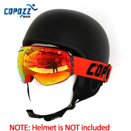 Discount copozz goggles - COPOZZ Spherical Surface Skiing Goggles Double Layers UV400 Anti-Fog Mask Glasses Professional Men Women Snowboard Goggl
