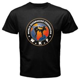 3db1f97d Tee Shirt Hipster Brand Clothing T Shirt WKF World Kickboxing Federation  Logo Men's Black T-Shirt Size S M L XL 2XL 3XL