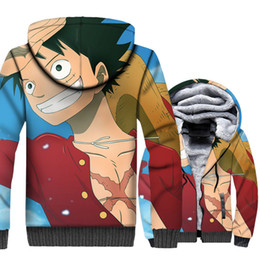 $enCountryForm.capitalKeyWord NZ - Anime One Piece Hoodies 3D Men Luffy Sweatshirts Winter Thick Hipster Jackets The Pirate King Coat Plus Size 5XL Brand Clothing