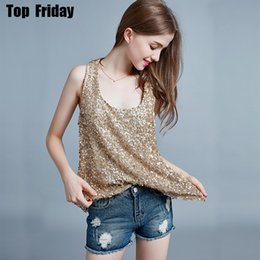 62cebb52143 Sexy Knitted Tank Tops Women Gold Thread Top Vest Sequined Tank Tops Blusa  Solid Silver Camis Beige Hollow Out Fitness Sweater