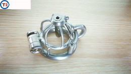 Discount small chastity cages 2018 New Male Stainless Steel Cock Cage Penis Ring With Catheter Chastity Belt Device Bondage BDSM SM Fetish Sex toy Small Size