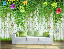 $enCountryForm.capitalKeyWord NZ - 3d wallpaper on a wall custom photo mural HD Flower Vine Wall Butterfly background wall Room wallpaper for walls 3 d Home decoration