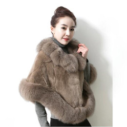 $enCountryForm.capitalKeyWord UK - Fashion Fox Fur Collar Faux Fur Coat Women 2018 Autumn winter New Imitation Mink Fur Shawl Cloak Cape High Quality Women Clothing
