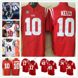 Ole Miss Rebels #10 Chad Kelly 17 Evan Engram 34 Brandon Bolden 49 Patrick  Willis Red Navy White Stitched College Football Jerseys S-3XL