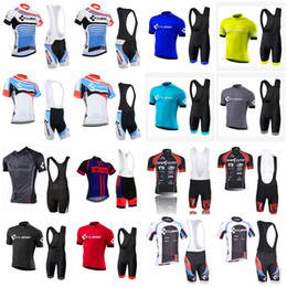 online shopping CUBE team Cycling Short Sleeves jersey bib shorts sets summer style quick dry mtb bike sportswear D1323