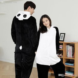 51fac5042b Wholesale-Unisex Adults Cute Fluffy Kung Fu Panda Cosplay Costume Jumpsuit Pajama  sets Animal Onesies Costume Pyjamas for women men