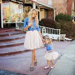 $enCountryForm.capitalKeyWord NZ - Mother and Daughter Tutu Skirt Mini Custom Made saia Voile Bouffant Puffy Fashion Skirt Autumn Midi Tulle Skirts girl