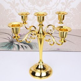 Wholesale Metal Candle Holders arms arms Candle Stand Wedding Decoration Candelabra Centerpiece Candlestick Decor Crafts Silver Gold bronze