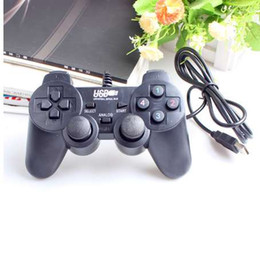black computer game UK - HOT Wired USB 2.0 Black Gamepad Joystick Joypad Gamepad Game Controller For PC Laptop Computer For Win7 8 10 XP For Vista