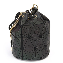 Chinese  Free shipping 2018 new brand handbag cross pattern synthetic Lingge Draw String shell bag chain Bag Shoulder Messenger Bag fashionista manufacturers