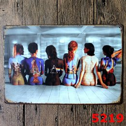 bcfddfb57ef15 THE BACKS OF SIX SEXY GIRLS Metal Sign vintage garage wall art pin up  poster pub restaurant bar sign home decor antique tray