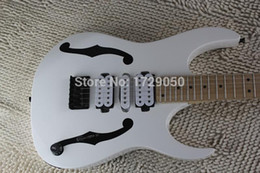 Discount guitar factory china - China guitar factory custom New Arrival 2015 High Quality 7 v PGM 30 white color Electric Guitar Black hardware 1221