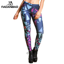 Striped purple leggingS online shopping - Nadanbao Autumn Legging Black Blue And Purple Objects Legins Printed Leggins Women Leggings Sexy Women Pants