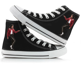 Jackson sports online shopping - Michael Jackson Shoes High top Canvas Shoes Sneark Sports shoes Michael Jackson Gifts
