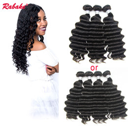 Discount nigeria hair - Remy Loose Deep Wave Wet and Wavy Human Hair Bundles Rabake Raw Indian Nigeria Double Wefts Curly Hair Weave Extensions