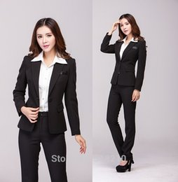 women blazers 4xl 2020 - Plus Size 4XL 2015 Autumn Winter Professional Business Work Wear Suits For Office Ladies Jacket And Pants Formal Pantsui