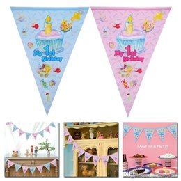 $enCountryForm.capitalKeyWord NZ - 2.5M Birthday Cartoon PaperPennants Flags Party Decoration Banner Bunting for Kids Great for party event celebration