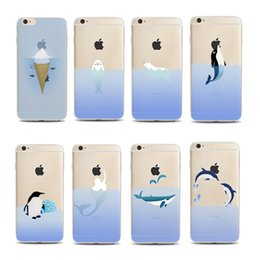 galaxy note cartoon phone cases NZ - Phone Cases For iphone X 6S 7 8 Plus 5S Samsung Galaxy S8 S9 Plus Note 8 case Cartoon Polar Bear Penguin Soft TPU painted Back cover shell