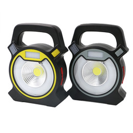 $enCountryForm.capitalKeyWord UK - COB LED USB Rechargeable COB Work Light Work Lamp Portable Camping Lanterns 4-Modes Mobile Power Bank Use LED Lamp +USB Cable
