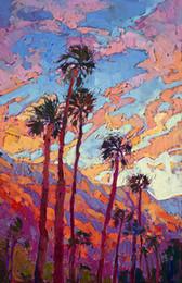 $enCountryForm.capitalKeyWord Australia - Artwork-sunset-light-Unframed Modern Canvas Wall Art for Home and Office Decoration,Oil Painting ,Animal painatings ,frame.