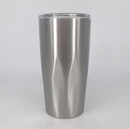 oz tumblers NZ - Stainless Steel Tumbler Vacuum Insulated Double Wall 20 oz Tumbler with clear lids Travel Mug Keep Cold or Hot Drinks
